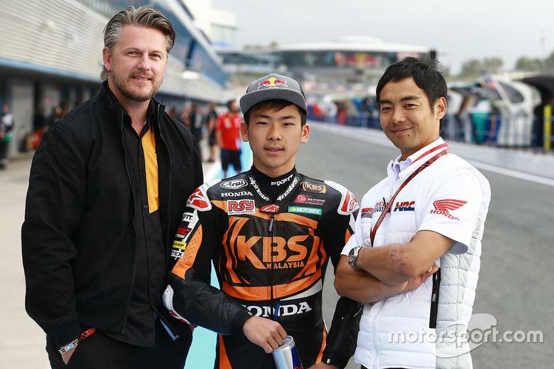 Johan Stigefelt, teammanager SIC Racing Team, Ayumu Sasaki, SIC Racing Team, Hiroshi Aoyama