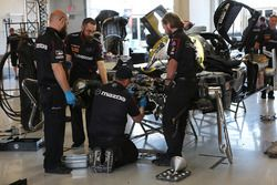 Mazda Motorsports crew members at work