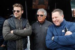 Marco Andretti, Andretti Autosport, Honda; Mario Andretti; Zak Brown, McLaren-Chef