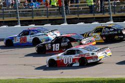 Ryan Preece, Joe Gibbs Racing Toyota, Kyle Benjamin, Joe Gibbs Racing Toyota, Cole Custer, Stewart-Haas Racing Ford