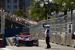 Jose Maria Lopez, DS Virgin Racing, leads the queue of cars in the pits