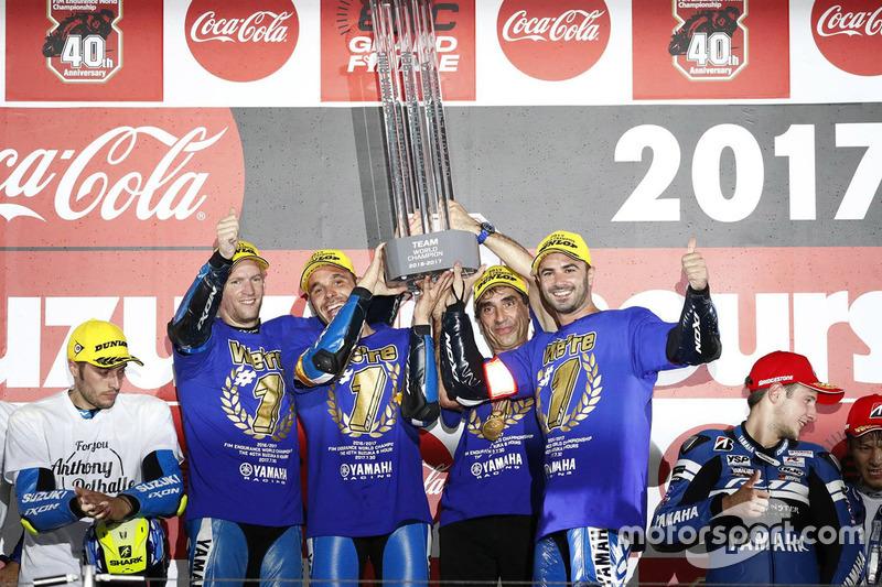 Langstrecken-WM (EWC): David Checa (Spanien), Niccolo Canepa (Italien), Mike Di Meglio (Frankreich)