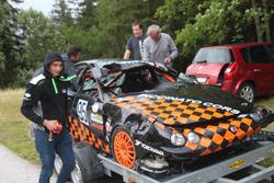 Kevin Mostberger, Honda Integra, Ecurie Basilisk, Unfall Training