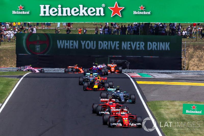 Sebastian Vettel, Ferrari SF70-H startta lider
