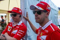 Kimi Raikkonen, Ferrari und Sebastian Vettel, Ferrari