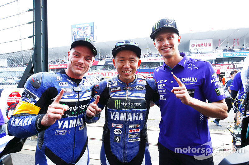 Ganadores #21 Yamaha Factory Racing Team: Katsuyuki Nakasuga, Alex Lowes, Michael Van Der Mark