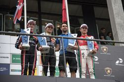 Podium: Race winner Lando Norris, Carlin Dallara F317 - Volkswagen, second place Joel Eriksson, Motopark Dallara F317 - Volkswagen, third olace Guan Yu Zhou, Prema Powerteam, Dallara F317 - Mercedes-Benz