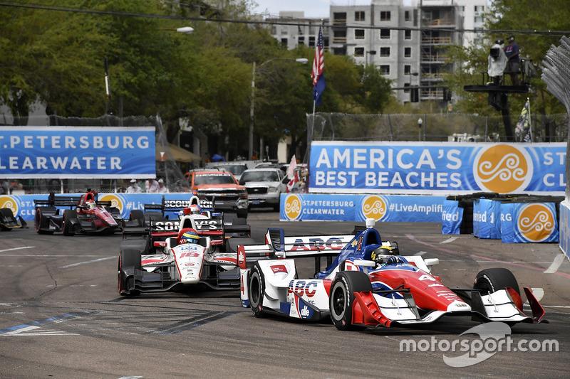 Conor Daly, A.J. Foyt Enterprises Chevrolet, Sébastien Bourdais, Dale Coyne Racing Honda