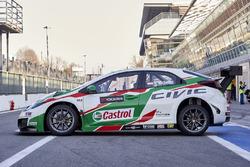 La voiture de Norbert Michelisz, Honda Racing Team JAS, Honda Civic WTCC