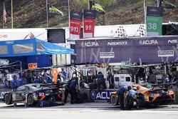 #93 Michael Shank Racing Acura NSX: Andy Lally, Katherine Legge, Mark Wilkins, #86 Michael Shank Rac