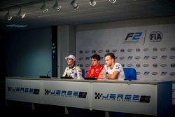 Conferenza stampa: Sergio Sette Camara, MP Motorsport, Charles Leclerc, PREMA Powerteam, Luca Ghiott