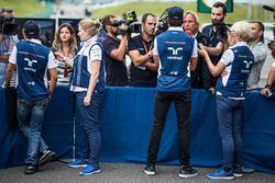 Felipe Massa, Williams y Lance Stroll, Williams hablan con la prensa