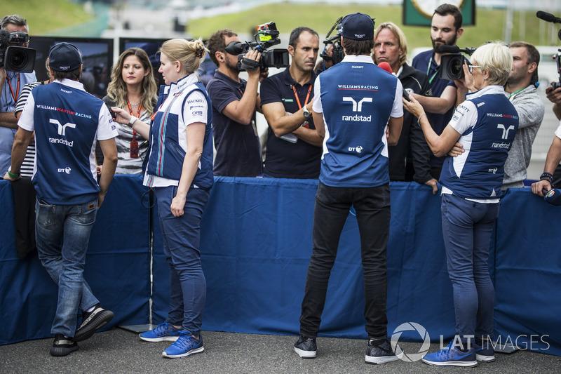 Felipe Massa, Williams and Lance Stroll, Williams talk, the media