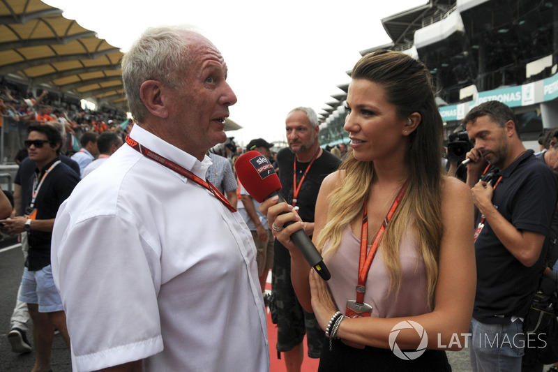 Консультант Red Bull Гельмут Марко, Федеріка Мазолін, Sky Italia