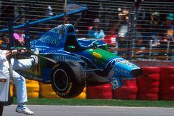 Michael Schumacher, Benetton B194 Ford, dopo l'incidente