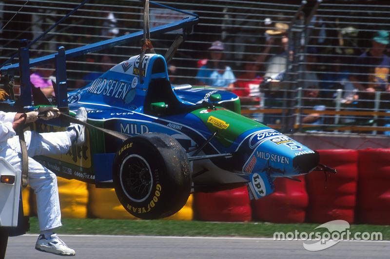Michael Schumacher y Damon Hill en Australia 1994