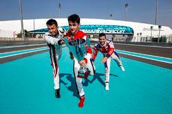Alexander Albon, ART Grand Prix, Charles Leclerc, ART Grand Prix et Antonio Fuoco, Trident