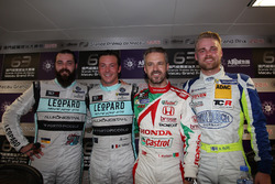 Press Conference: Stefano Comini, Leopard Racing Team Volkswagen Golf GTI; Jean-Karl Vernay, Leopard Racing, Volkswagen Golf GTI TCR; Tiago Monteiro, WestCoast Racing Honda Civic TCR; Antti Buri, LMS Racing SEAT León DSG