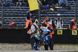 Aron Canet, Estrella Galicia 0,0, after the crash