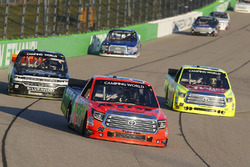 Grant Enfinger, ThorSport Racing Toyota, Matt Crafton, ThorSport Racing Toyota and Josh Reaume, Chev