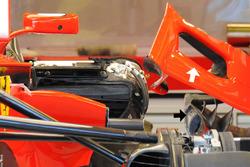 Entrée dans le ponton de la Ferrari SF70H