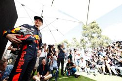 Max Verstappen, Red Bull Racing, poses for photographers