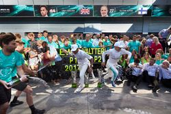 Race winner Lewis Hamilton, Mercedes AMG F1, Second place Valtteri Bottas, Mercedes AMG F1, the Merc