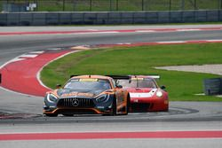 #2 CRP Racing Mercedes AMG GT3: Ryan Dalziel, Daniel Morad, #58 Wright Motorsports Porsche 911 GT3 R: Patrick Long, Jörg Bergmeister