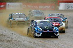 Johan Kristoffersson, PSRX Volkswagen Sweden, VW Polo GTi, en tête