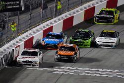 Matt Tifft, Joe Gibbs Racing Toyota and Cole Custer, Stewart-Haas Racing Ford