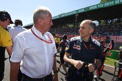 Dr Helmut Marko, Red Bull Motorsport Consultant and Franz Tost, Scuderia Toro Rosso Team Principal