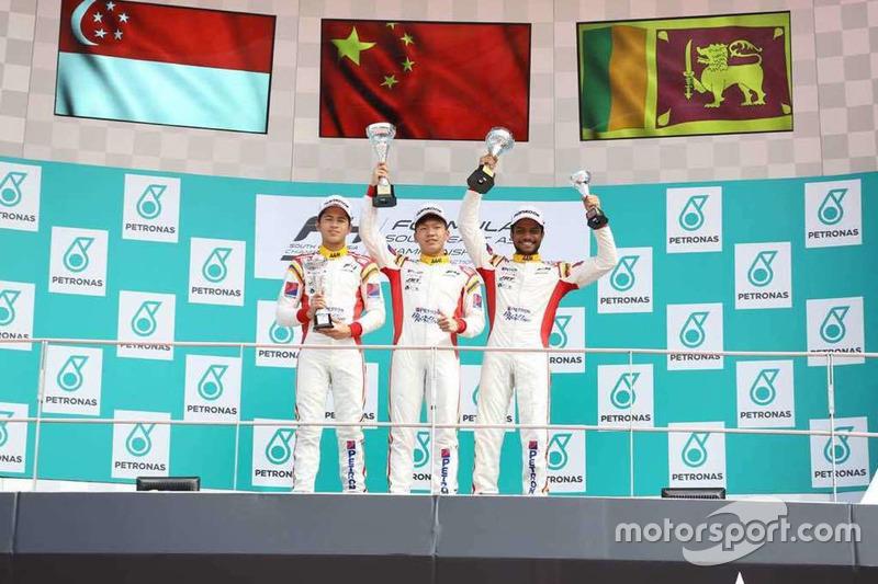 Podium Race 1: Danial Frost, Daniel Cao, Eshan Pieris