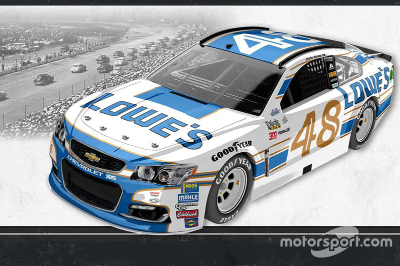 Throwback-Design: Jimmie Johnson, Hendrick Motorsports Chevrolet
