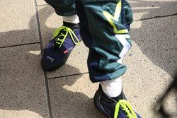 Mathias Lauda, Aston Martin Racing shoes detail