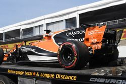 Retiran el coche de Fernando Alonso, McLaren MCL32