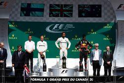 Lewis Hamilton, Mercedes AMG F1, Valtteri Bottas, Mercedes AMG F1, Daniel Ricciardo, Red Bull Racing
