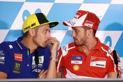 Валентино Росси, Yamaha Factory Racing, и Андреа Довициозо, Ducati Team