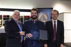 Premiazione ACS 2016 con Stefano Comini, Gianmarco Balemi e Claudio Ballinari