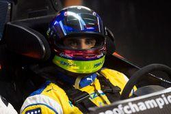 Juan Pablo Montoya, in the pits