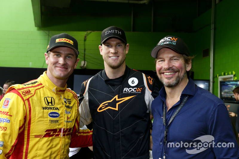 Ryan Hunter-Reay y Fredrik Johnsson, RoC con un visitante