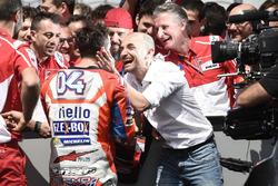 Andrea Dovizioso, Ducati Team, Claudio Domenicali, Ducati CEO