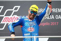 Podium: Race winner Mattia Pasini, Italtrans Racing Team race