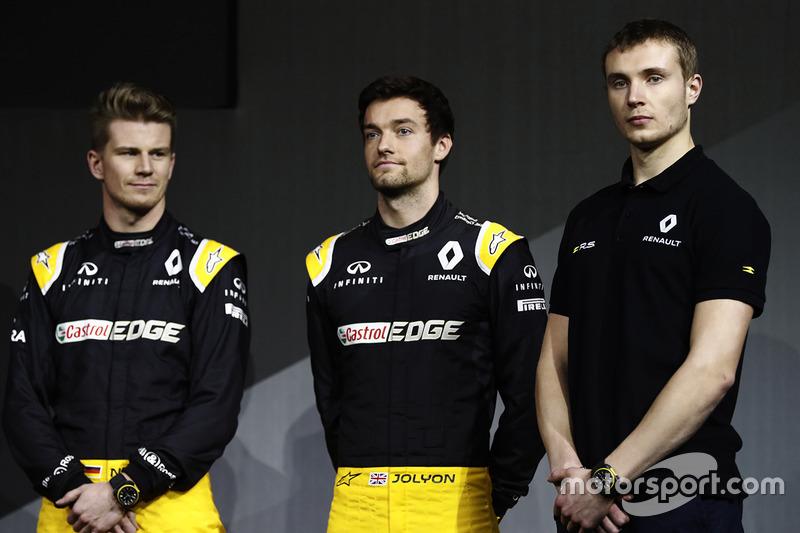 Nico Hülkenberg, Renault Sport F1 Team; Jolyon Palmer, Renault Sport F1 Team; Sergey Sirotkin, Renault Sport F1 Team