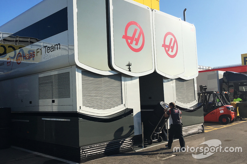 Haas F1 Team hospitality area
