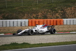 Lance Stroll, Williams FW40 spins