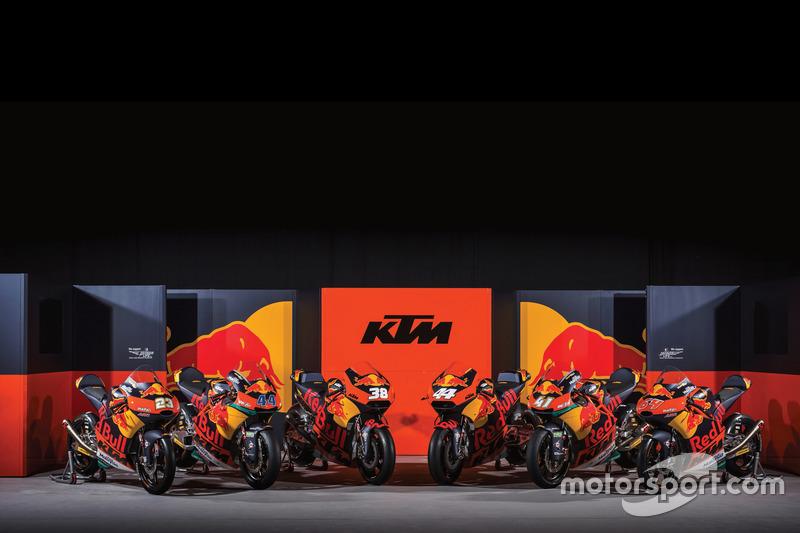 All KTM bikes at the MotoGP series