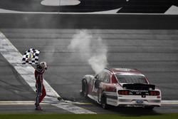 Ryan Reed, Roush Fenway Racing Ford celebrates his win with a burnout