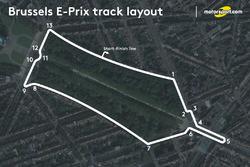 Streckenlayout: ePrix Brüssel