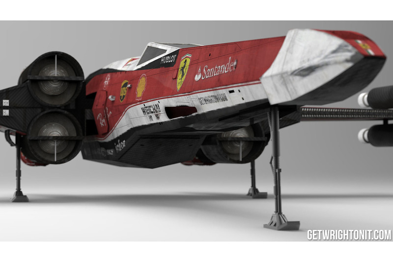 X-Wing in Ferrari-design