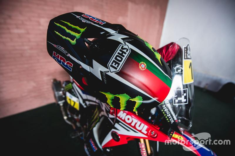 Casco de #17 Monster Energy Honda Team: Paulo Goncalves